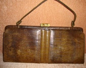 PALIZZIO Very New York - Vintage 60's - Alligator Lizard - Women Handbag - Excellent Accessories