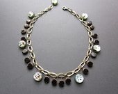 green foil copper and black - the payton necklace