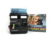 Vintage Polaroid Onestep 600 Land Camera - Film Tested/ Working