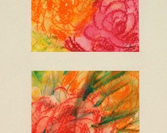 Watercolor. Original painting. Flowers
