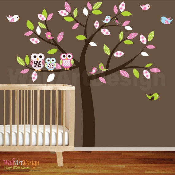 baby nursery wall decal baby girl wall decals wall sticker. Black Bedroom Furniture Sets. Home Design Ideas
