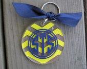 Personalized acrylic key chain CHEVRON PATTERN
