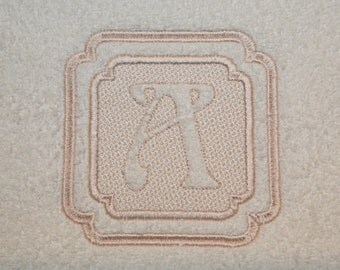 Embossed Monogram 2 Machine Embroidery Designs