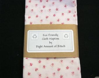 Eco Friendly Cloth Napkins Rachel Ashwell Shabby Chic Pink Roses