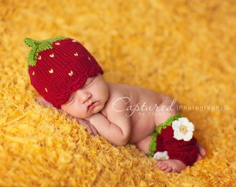 The Little Strawberry - Newborn Size, Made To Order