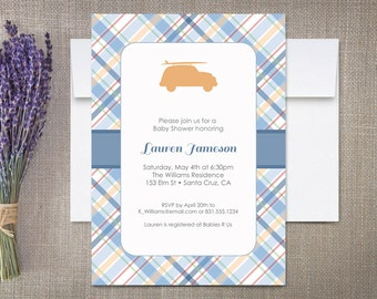 Baby Shower Invitations, Woodie Surfer