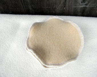 Nursing Pads One Pair Two Layers Of Upcycled Wool /Bamboo Velour/  Absorbent Breastfeeding Pads