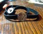 Rushford Lake Leather Wrapped Bracelet