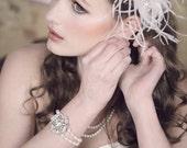 VAVAVINTAGE Stretchy Freshwater Pearl and Rhinestone Double Strand Bracelet
