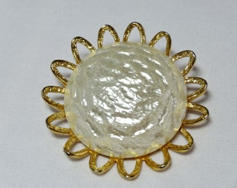 Faux Pearl Sun Flower brooch Apparel & Accessories Jewelry Vintage Jewelry Brooch