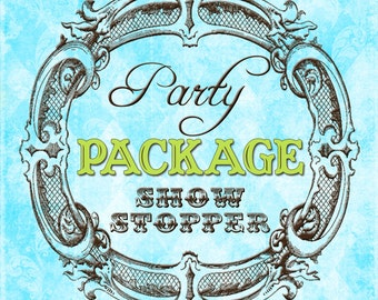 DIY Printable Party Package Made To Match Any Invitation In The Shop -- SHOW STOPPER Package