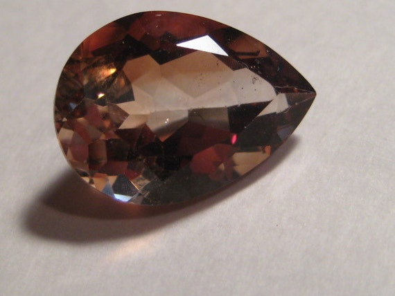 imperial topaz faceted gemstone 18 x 13 by creativecabs
