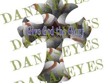 Baseball Jesus Cross Digital Download Craft Supply