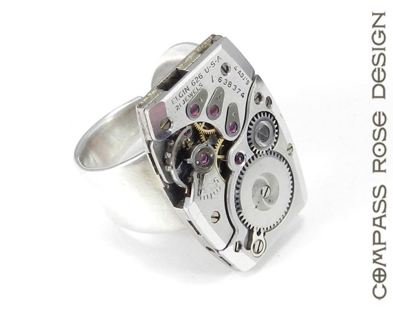 steunk ring industrial statement ring mechanical