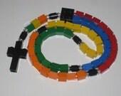 The Original Catholic Rainbow Lego Rosary First Comunion Gift Boy or Girl