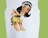 Aloha Hawaii,  Hula Dancer tee, Hawaiian T-Shirt, Vintage Hawaiian Shirt, Baby Hula dancer,  One Piece Baby by ChiTownBoutique.etsy
