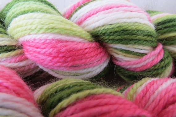 Lady Slipper Hand Dyed Merino Yarn Dk weight 120 yards