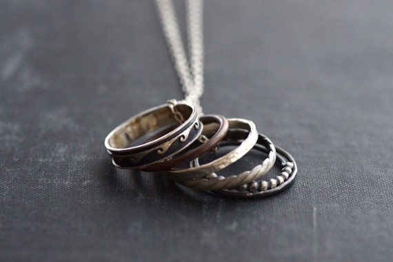 Necklace Full of Rings - Mixed Metals