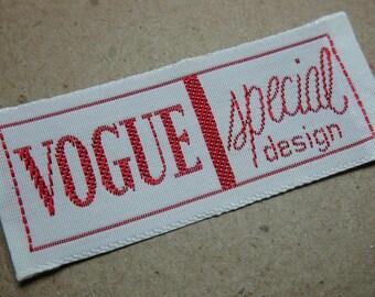 Vintage Vogue Special Design Label Designer Fashion Patterns 1960s