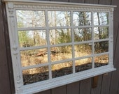 french  country   mantel  . bedroom wall  mirror. distressed light  cream