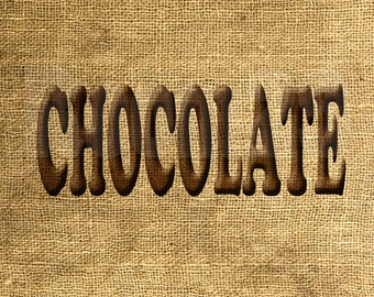 INSTANT DOWNLOAD Chocolate in Brown - Download and Print - Image Transfer - Digital Sheet by Room29 - Sheet no. 755