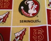 College Football Florida State, University of Florida, Bama  Reversible Xs, S, M, Lg Tie On Dog Bandana