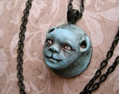 CEDRIC - OOAK Sculpted Doll/Animal Hybrid Necklace