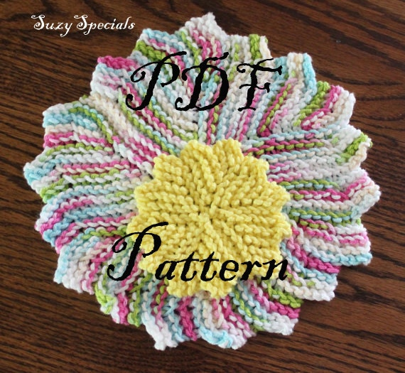 Knitted Reuseable Washcloth And Makeup Remover Pad Patterns