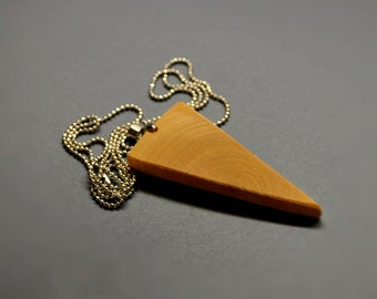 Geometric Wooden Triangle  •  Triangle Necklace  • Birch Wood Pendant