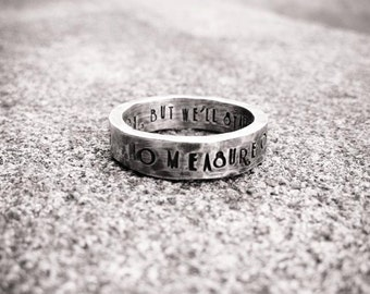 Custom Stamped Thick Sterling Silver Ring - Choose from 12 fonts