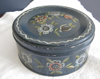 Vintage Hand Painted Tole Tin