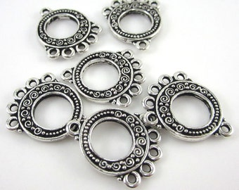 6 Silver Tierracast 5-1 Spiral Links