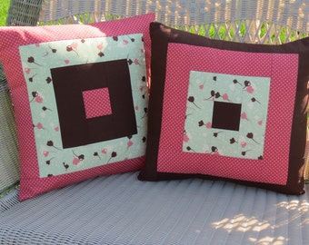 City Girl Quilted Pillow Covers - Set of 2 Decorative Pillow Covers