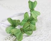 Green Sparkle Butterfly Headband
