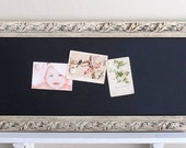 Kitchen CHALKBOARD Home Decor Narrow Rectangle Ivory White Bulletin Board Organizer Mud Room Magnetic Chalk Board Old World - MORE COLORS