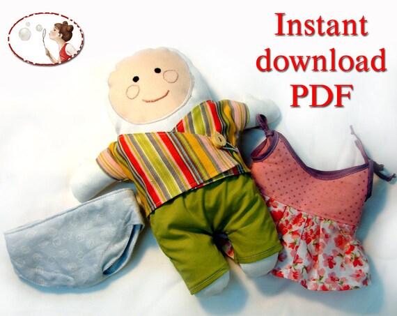 Baby friendly Doll. Sewing Pattern.  PDF