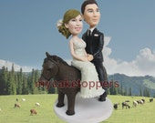 wedding cake toppers riding a horse cake topper custom cake topper lifelike look like you