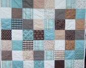 Pure Joy Baby Boy Patchwork Quilt by Dreamy Vintage Sheets on Etsy