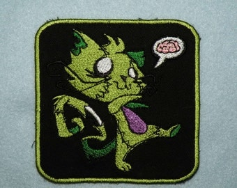 Zombie Kitty Iron on Patch- small