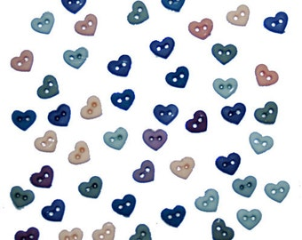 Jesse James Button Romance Micro Mini Shapes Hearts Doll Size Button Embellishments