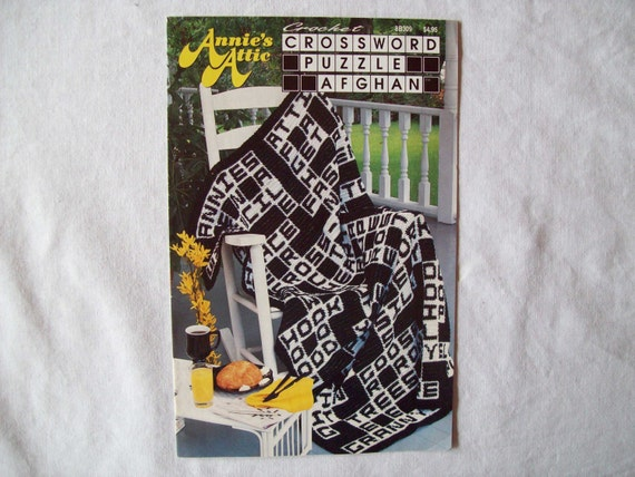 Crossword Puzzle Afghan Crochet Pattern Book By