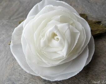 IVORY Wedding Hair Flower, Ivory Hair Fascinator, Ivory Hair Accessories, Ivory Bridal Hair Accessory, Ivory Hair Clip, Ivory Weddings