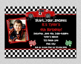 Race Car Birthday Invitation Race Car Birthday Party Invitation Printable