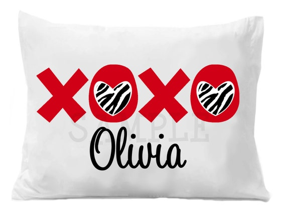 XOXO Valentine Pillow Case Personalized Pillow Case , Valentine Gift