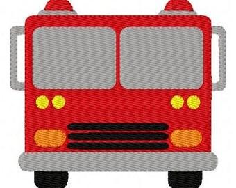 Fire Truck 13 Machine Embroidery Design // Joyful Stitches