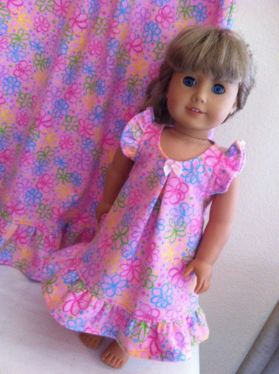 Custom Matching Nightgown Set For Child And American Girl Or