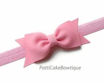 Pink Baby Headbands, Baby Girl Headbands, Girls Headbands, Hair Accessories, Pink Hair Bow, Pink Bow Headband, Pink Headband with Bow