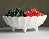 Vintage Milk Glass Bowl Wedding Bridal Shower Home Decor Farmhouse Decor From Country Home City Home.