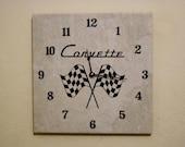 Origional corvette emblem wall clock