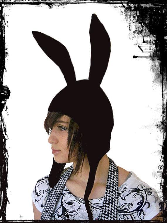 Black Bunny ears hoodie --- Reserved Listing